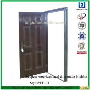 Quality Fangda 6 panel american steel door for sale