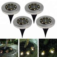 Yellow Solar Powered LED Ground Lights / Solar Powered Walkway Lights