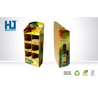 Advertising Supermarket Floor Display With Full Color Printing Corrugated Display Stand