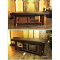 Solid wooden spa adjustable height shiatsu massage table of item 102962977 - How much is a massage table ...