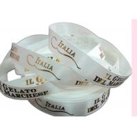 Wholesale Polyester Custom Printed Satin Ribbon Environmentally Friendly With Gold Foil Logo from china suppliers