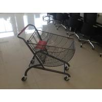 Wholesale Fan shape small store shopping cart with color powder coating and amercian handle from china suppliers