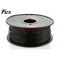 Wholesale Makerbot black Flexible Filament 1.75mm / 3.0mm NinjaFlex , ROHS approval from china suppliers
