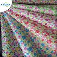 Wholesale Multi Color Printed Faux Leather Fabric Chunky Shiny Wear Resistant from china suppliers