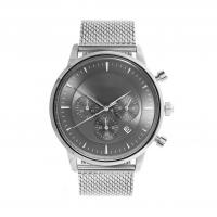 Wholesale Light Grey Face Stainless Steel Wrist Watch , Mens Stainless Steel Chronograph Watches from china suppliers