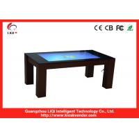 Bank / Hotel Self Service Information Kiosk Touch Table , IR Four-point Touch Advertising Kiosk Manufactures