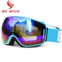 Wholesale Wide View Blue Mirrored Ski Goggles Professional Outdoor Sports Equipment from china suppliers