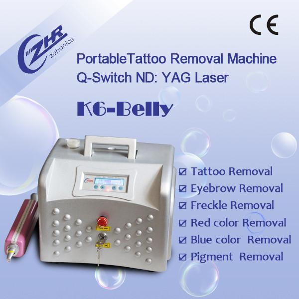 Yag laser tattoo removal machine k6 belly sgs bv for Laser tattoo removal certification