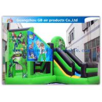 Quality Green Ben 10 Theme Bouncy Castle Slide, Inflatable Jumping Castle For Kids for sale