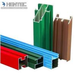 Customerized Aluminum Window Extrusion Profiles Wooden Finished 6005 / 6061 / 6063