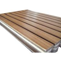 Wholesale Wood Wall Paneling Wooden Grooved Acoustic Panel MGO Fireproof Veneer Surface Gymnasium from china suppliers