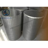 Wholesale 304 SS Johnson Wedge Wire Screen  Groundwater Wells V Shape For Drum FIlter from china suppliers
