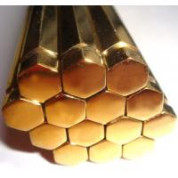 Wholesale Customized Hexagonal CW614N Brass Rod , High Capacity Brass Hex Bar Stock from china suppliers