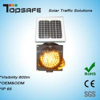 Quality High Luminance Anti-High (low) Temperature 300mm Solar LED Traffic Amber for sale