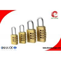 Quality High Quality Brass 3 Digital Number Wheel Combination Padlock for sale