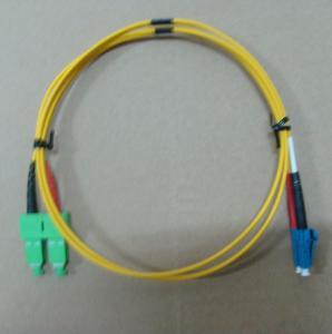 2.0mm / 3.0mm Fiber Optic Patch Cord LC SC Singlemode Dimplex With High Return Loss