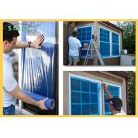 Wholesale Clear Adhesive Blue Plastic PE Window And Glass Surface Protection Film Temporary from china suppliers
