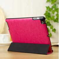 Wholesale Thin Flip Apple Leather Case Stand For iPad 5 / iPad Air Protective In Red from china suppliers