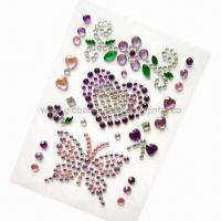 Wholesale Gem 3D stickers for cell phone decoration from china suppliers