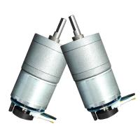 China Metal DC Worm Drive Motor , Small Worm Gear Motor 50mA 14RPM No Load Speed on sale