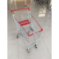 Wholesale 60 L 4 PU Casters Supermarket Shopping Carts , Shopping Push Cart With Groceries from china suppliers