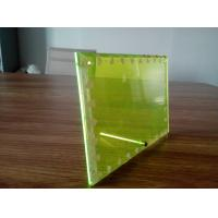 Fluorescent  TransparentGreen Acrylic Photo  Picture Frames 4x6 Manufactures