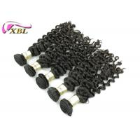 Black Unprocessed Brazilian Virgin Hair Deep Wave Free Shedding , Can Be Dyed