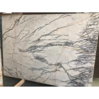 Wholesale Disorderly Lines Hoar Stone Slab Tiles Wall Floor White Marble With Gray Vein from china suppliers