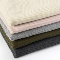 Wholesale Winter Spring Fine Solid Color Rib Knit 220 Gsm Cotton T Shirt Fabric from china suppliers