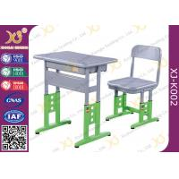 Buy cheap Adjustable Metal Student School Table And Chairs With Skid Resistance Legs from wholesalers