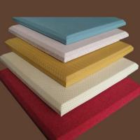 Wholesale Fireproof Material Acoustic Fabric Wall Covering Red / Yellow / White from china suppliers