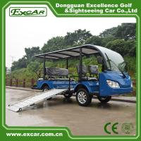 Wholesale 8 Seater Electric Shuttle Bus With 12*6v Trojan Battery Steel Alloy Frame from china suppliers