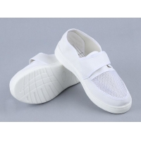 Wholesale White Single Net Velcro Breathable 220mm PU esd Shoes from china suppliers
