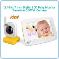 digital video baby monitor 2 4 ghz with pan tilt nightvision and two way audio video camera. Black Bedroom Furniture Sets. Home Design Ideas