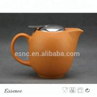 Wholesale Ceramic Teapot With Stainless Steel Lid And Strainer Stoneware Type from china suppliers