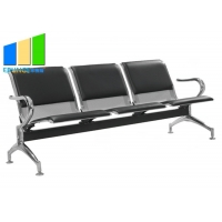 Wholesale Commercial Steel Bench 3-Seater Airport Leather Waiting Chairs from china suppliers