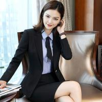 Wholesale Regular Women 'S Business Suit Skirt Custom 90% Polyester Blended Cotton Long Sleeve from china suppliers