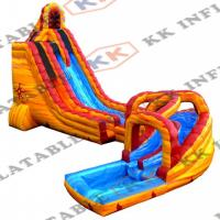 Wholesale Commercial Inflatable Water Slide , 4 Seams Stitching Inflatable Lake Slide from china suppliers