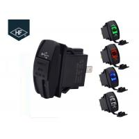 Buy cheap Double USB Socket Motorcycle Cell Phone Charger Corrosion Resistant With LED from wholesalers