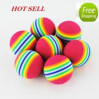 Wholesale soft rainbow golf ball for indoor golf from china suppliers