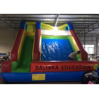 Wholesale Big Kids PVC Inflatable Dry Slide With Clients Customized Logo Commercial Grade from china suppliers