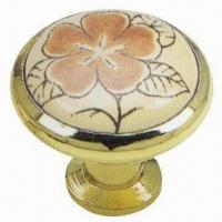 Wholesale Zinc Alloy Insert Ceramic Knob with 33mm Diameter from china suppliers