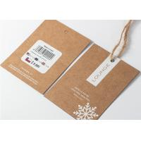 Wholesale Kaft Paper Garment Tags And Labels , Hanging Price Tag String With Hemp Rope from china suppliers