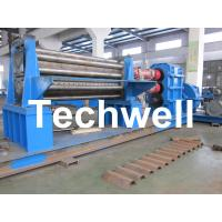 Wholesale Galvanised Two Rollers Corrugated Roll Forming Machine 4 - 8mm with Panasonic PLC Control System from china suppliers