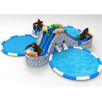 Wholesale Orangutan Pool Water Slide Bounce House , Water Park Large Inflatable Water Slides from china suppliers