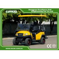 Wholesale EXCAR Electric Fuel Type Yellow Electric Golf  Car 3 - 4 Seater 48V 350AH Trojan Battery from china suppliers
