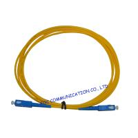 Wholesale High Presion Ferrule Fiber Optical Patch Cord , SM Simplex SC-SC from china suppliers