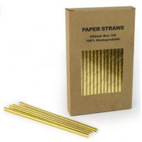 China custom printed stainless steel straw set brown kraft packaging paper box with insert tray holder on sale
