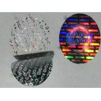 Wholesale Custom made anti-fake void one time use 3D gold silver hologram stickers on roll on sheet from china suppliers