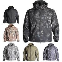 Wholesale Soft Shell Custom Outdoor Clothing , Mens Tactical Jacket Heat Preservation Thermal Fleece from china suppliers